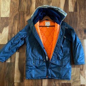 Flying jacket VINTAGE aviation hooded parka coat